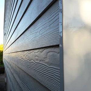 Photo Fibro ciment sans languette effet bois
