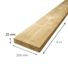 PLANCHES COFFRAGE 25*220*4M