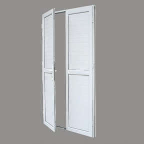 PORTE ALU VITRE 2BATTANTS BAS PLEIN BLANC 1200*2150 1POINT